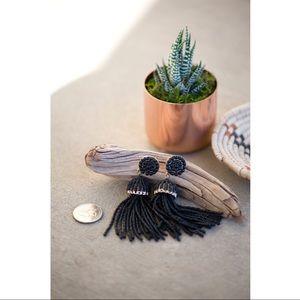 🖤 *FREE with purchase Black tassel earrings!!! 🖤